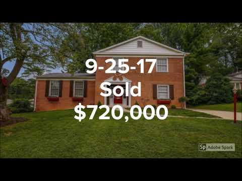 September 2017 Sold homes in Ashburton Elementary School, Bethesda Md