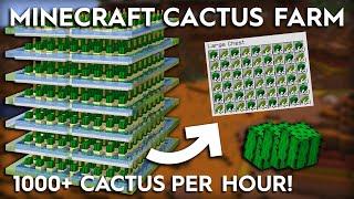 Minecraft Cactus Farm - 1000+ Per Hour - 1.16/1.15