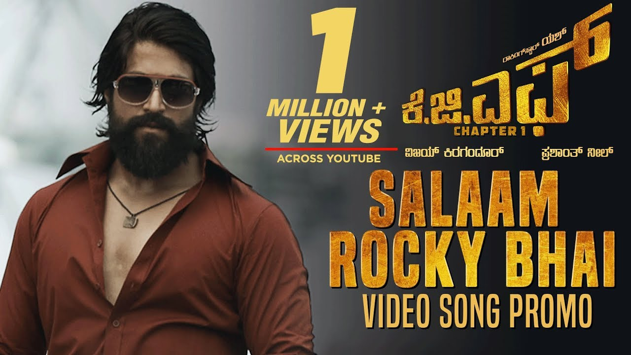 Kgf Salaam Rocky Bhai Video Song Promo Kgf Kannada Movie Yash