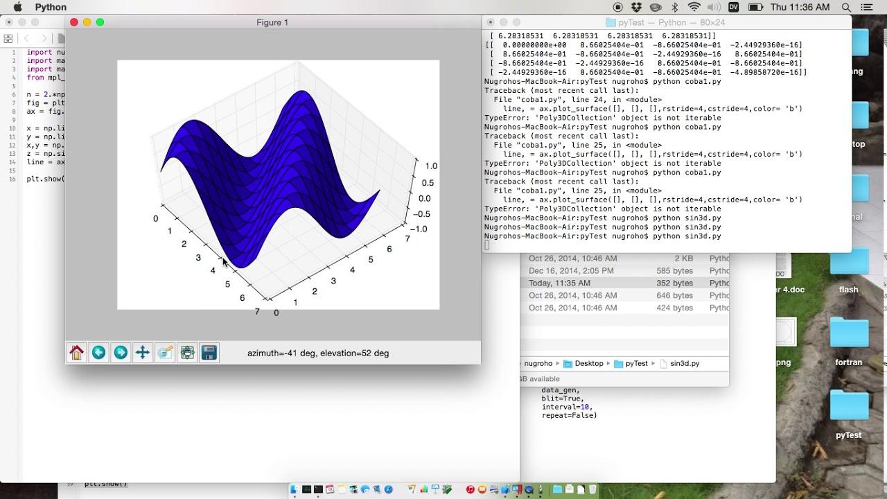 3d Plot Surface using Matplotlib in Python