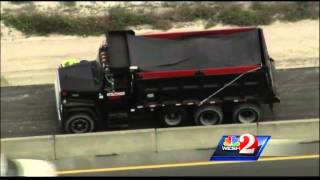 Worker run over by dump truck on construction site