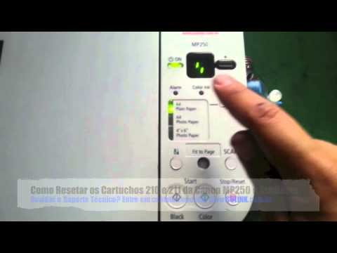 Tutorial Como Resetar Os Cartuchos 210 E 211 Canon Mp250