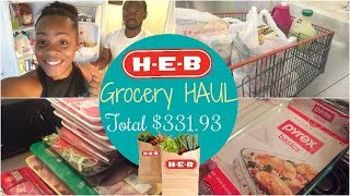 Shop With Me | Grocery Haul | Healthy and Non-Healthy | H-E-B Haul |