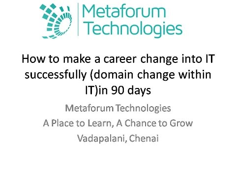 How to make a career change into IT successfully in 90 days
