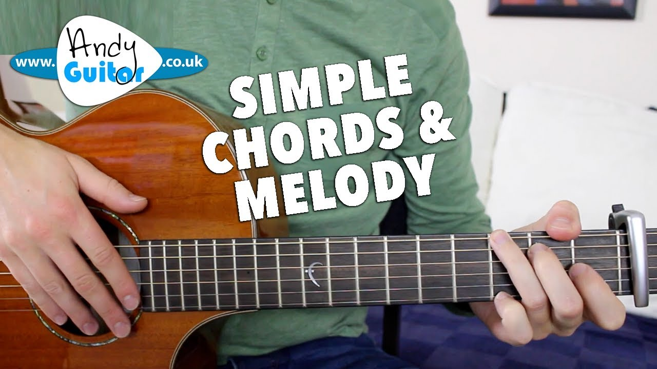 Somewhere Over The Rainbow Easy Chords And Melody Guitar Tutorial