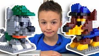 Mini Blocks Щенячий Патруль.  Собираем Конструктор Мультик Щенячий Патруль Видео для детей
