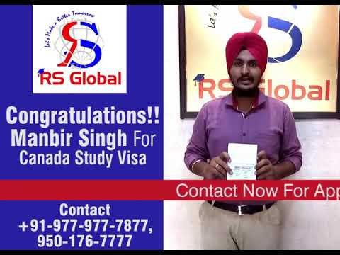 Manbir Singh Got CANADA Study Visa with 6.0 bands- RS Global Immigration