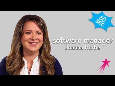 60 Seconds with Software Manager Joanna Iturbe