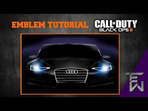 Black Ops 3 Emblem Tutorial | Audi car (BO3)