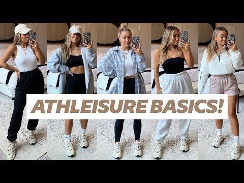ATHLEISURE BASICS HAUL! Sweats, Shorts, Tops, Hoodies | Julia Havens