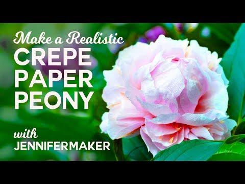 Make Crepe Paper Peony Flowers - Full Tutorial & Free Pattern