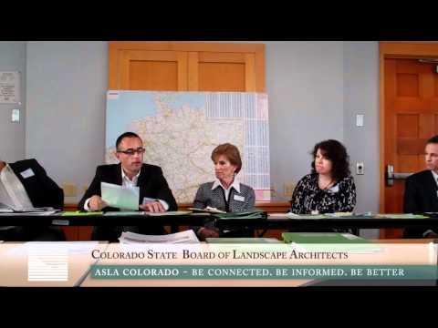 ASLA Colorado - Colorado Board of Landscape Architects Presentation