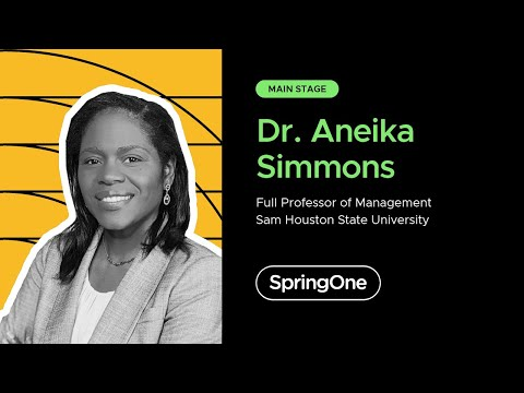 Dr. Aneika Simmons at SpringOne 2020