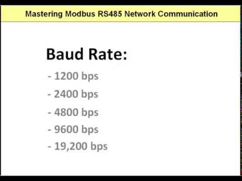 Modbus: RS485 Port Settings