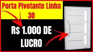 Porta Pivotante Linha 30 Passo a Passo Com Fabiano Carvalho - Porta Pivotante Em ALUMÍNIO