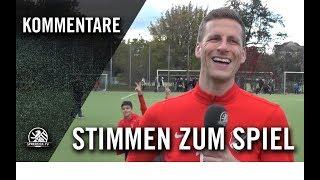 Die Stimmen zum Spiel   1. FC Wilmersdorf - Berliner AK 07 (2. Runde, Pokal)