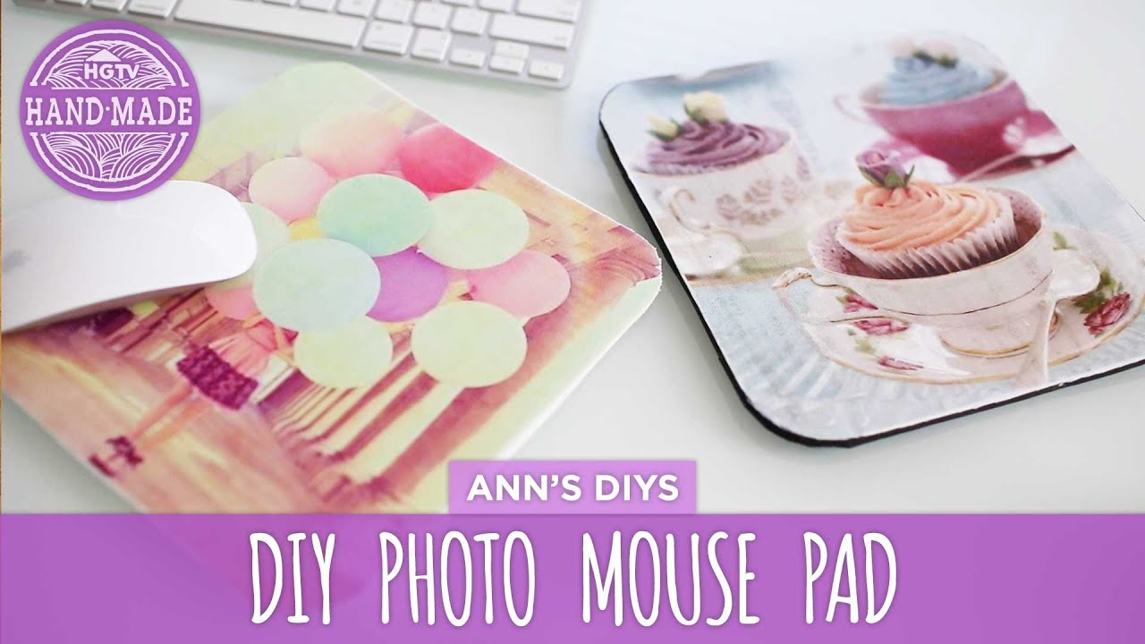 Diy photo mouse pad hgtv handmade youtube solutioingenieria Images