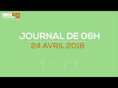 Le journal de 06H00 du 24 avril 2018-Radio Côte d'Ivoire
