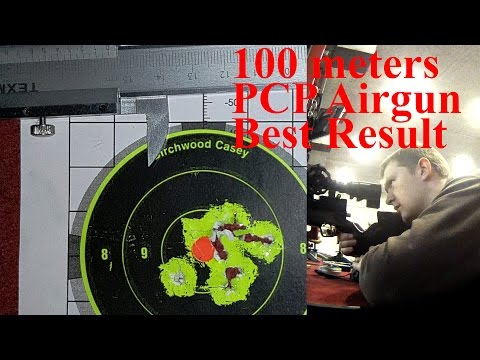 World Best Result Airgun 100m 10 shots grouping!