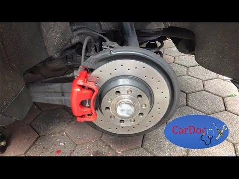 bremsscheibe bremsbel ge hinten wechseln golf 5 gti brembo youtube