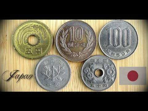 Coin collection | Japan | 5 Coins ( Yen ) from 1961