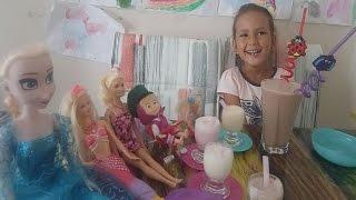 Dondurma Kokteyl, Maşa barbie elsa elife ziyarete geliyorlar