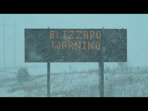 Owatonna, MN Extreme Blizzard Conditions - 1/22/2018