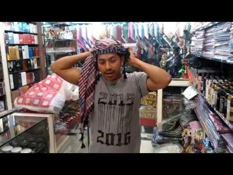 Tying a head scarf – Omani style