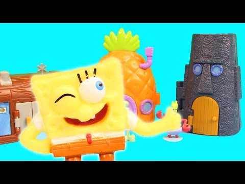 Nickelodeon Spongebob Squarepants Pineapple House Krusty Krab SquidWard's Mini Playset