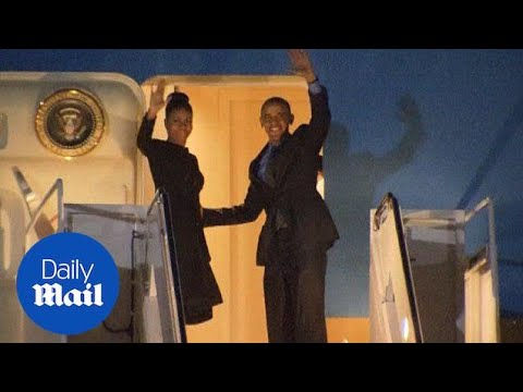 Obamas leave for Hawaii with a stop in San Bernardino - Daily Mail