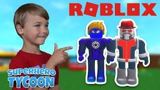 I AM BLUE SPIDERMAN in ROBLOX SUPERHERO TYCOON | I CAN FLY!