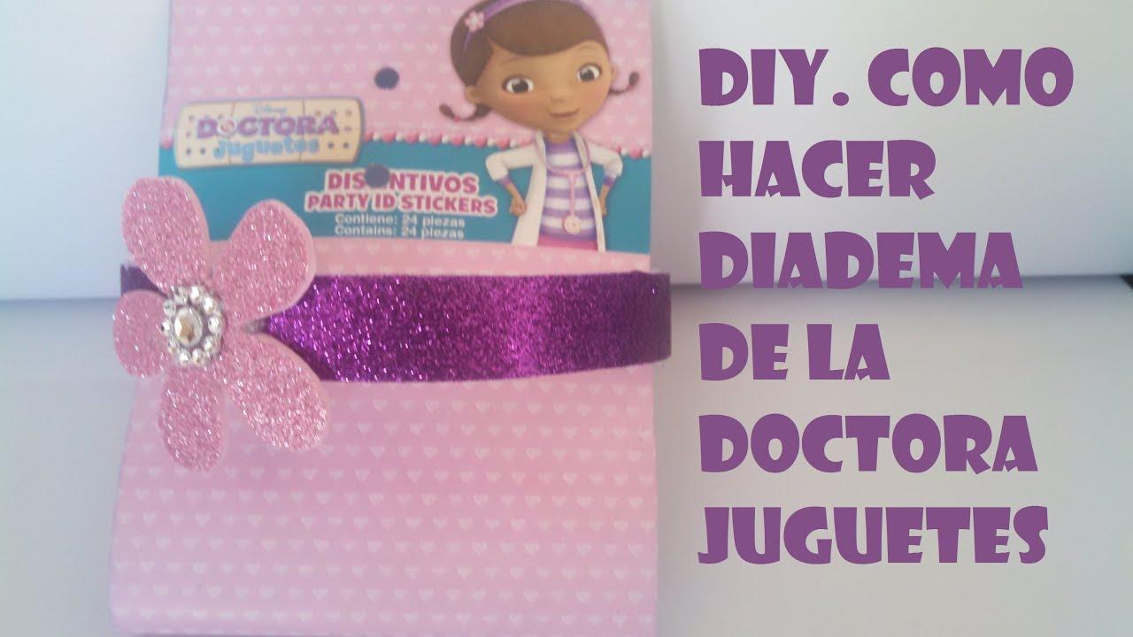 Como hacer diadema de doctora juguetes disney doc - Material para hacer diademas ...
