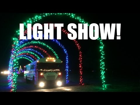 Christmas Light Show from Ground & Air | Traveling Across North America | Bus Life