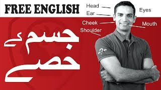Learn English speaking - How to Pronounce Names of body Parts in English with Muhammad Akmal