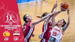 LIVE - Spain v Latvia - FIBA U16 Women's European Championship 2019