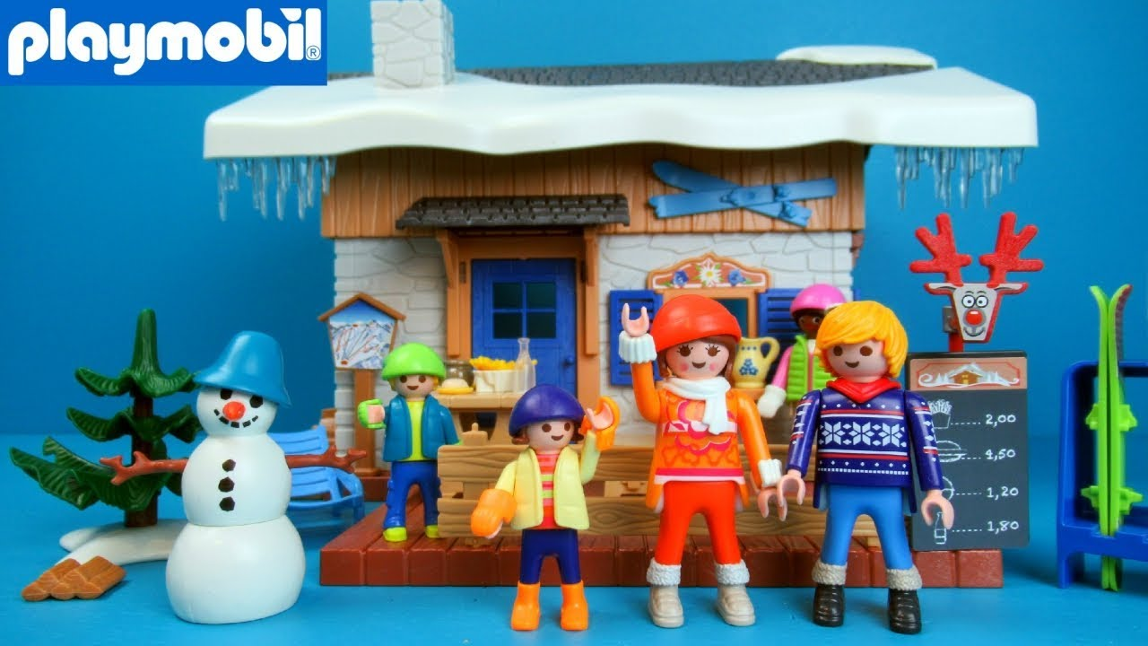 playmobil 9280 ski lodge toy unboxing and review play with toys - Playmobil Ski