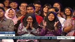 KICK ANDY 21 April 2017 -- Keteladanan SHINTA NURIYAH  ( Istri Alm  K. H.  Abdurrahman Wahid )