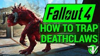 FALLOUT 4: How To Trap DEATHCLAWS in Wasteland Workshop DLC! (Everything About Caging Creatures)