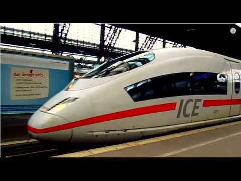 Travelling on Intercity Express ICE 128 from Cologne to Amsterdam