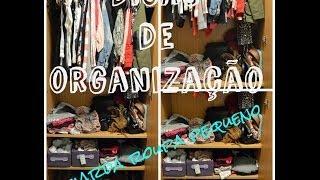 Dicas de organização: guarda roupa pequeno