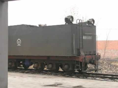 The photo of 2-10-2 Chinese Steam Locomotive QJ (QianJin) 6690 in PingDingShan