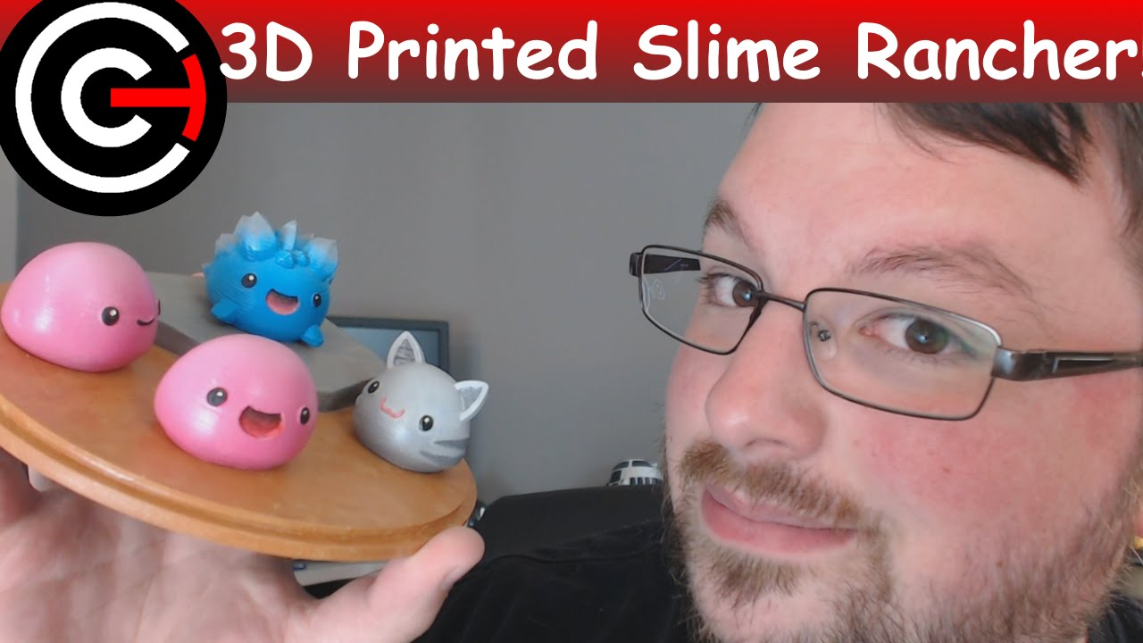 3d Printed Slime Rancher Pink Tabby And Rock Slimes