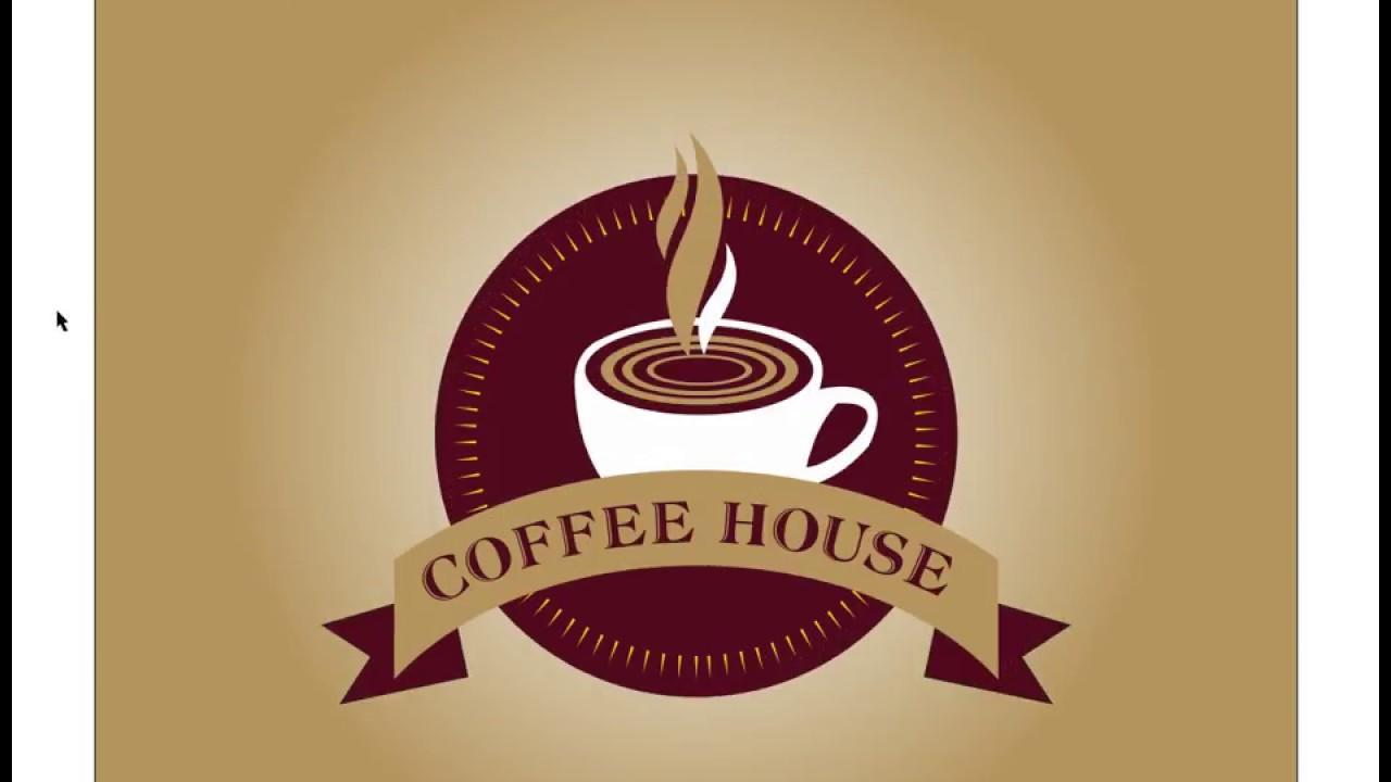 Coffee House Logo Design Project Coreldraw Tutorial Youtube