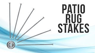 RV Patio Rug Stakes 6 Pack