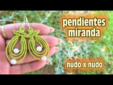 PENDIENTES MACRAME HECHOS EN CASA
