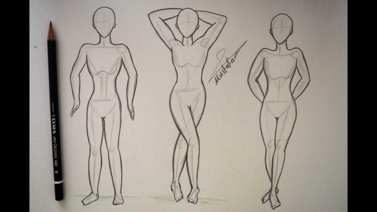 فيديو لتعلم رسم المانيكان تصميم الازياء Fashion Illustrations Design And Coloring Silk Youtube Human Drawing Anime Drawings Art Drawings