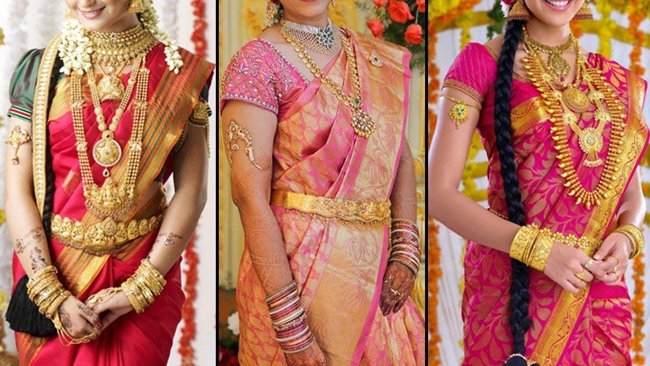 efcca5cd0b 2019 South Indian Wedding Bridal Saree Collections | 2019 Bridal Saree  Designs 40 SAREE DRAPING