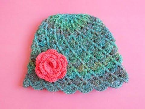how to Crochet Baby Hat Design latest crochet hat - YouTube 1c917ec9942