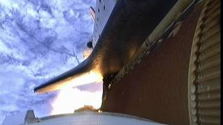 STS-135 Right SRB looking Down