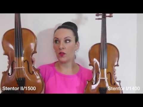 Stentor I v's Stentor II (1400 v's 1500) Violin REVIEW